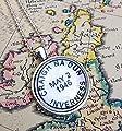 Outlander Necklace, Craig Na Dun Vintage Postmark Style Necklace for Outlander Fans