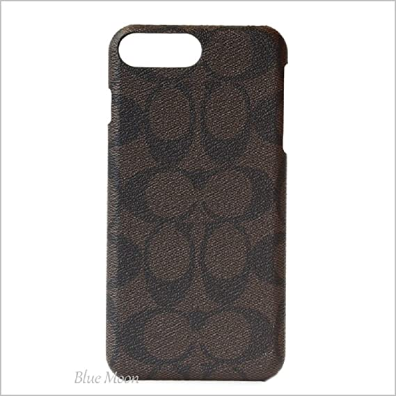 online retailer c04a5 45017 Amazon.com: Coach Signature Coated Canvas Phone Case for iPhone 8 ...