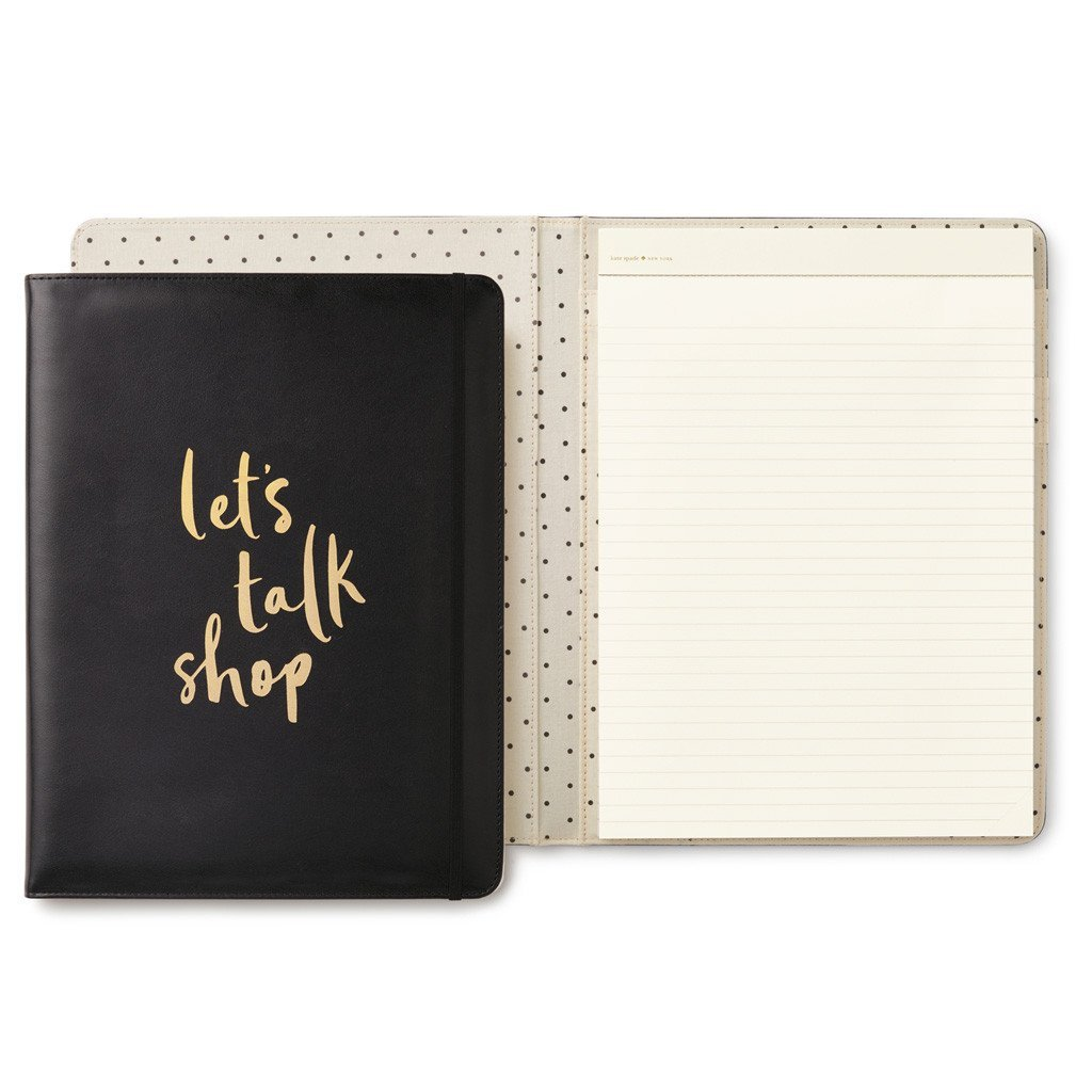 Kate Spade Notepad Folio, Let's Talk Shop (174453) by Kate Spade New York