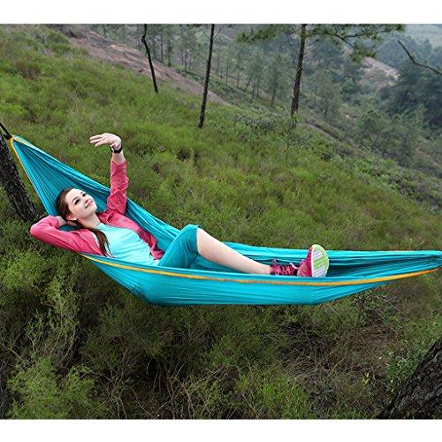 Hamacs Wddwarmhome Double Personne Lac Bleu Portable Camping En Plein Air Voyage Nylon (260 * 140 cm)