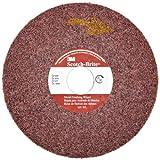Scotch-Brite Metal Finishing Wheel, Aluminum Oxide, 6000 rpm, 6'' Diameter x 1'' Width, 1'' Arbor, 6A Medium Grit  (Pack of 3)