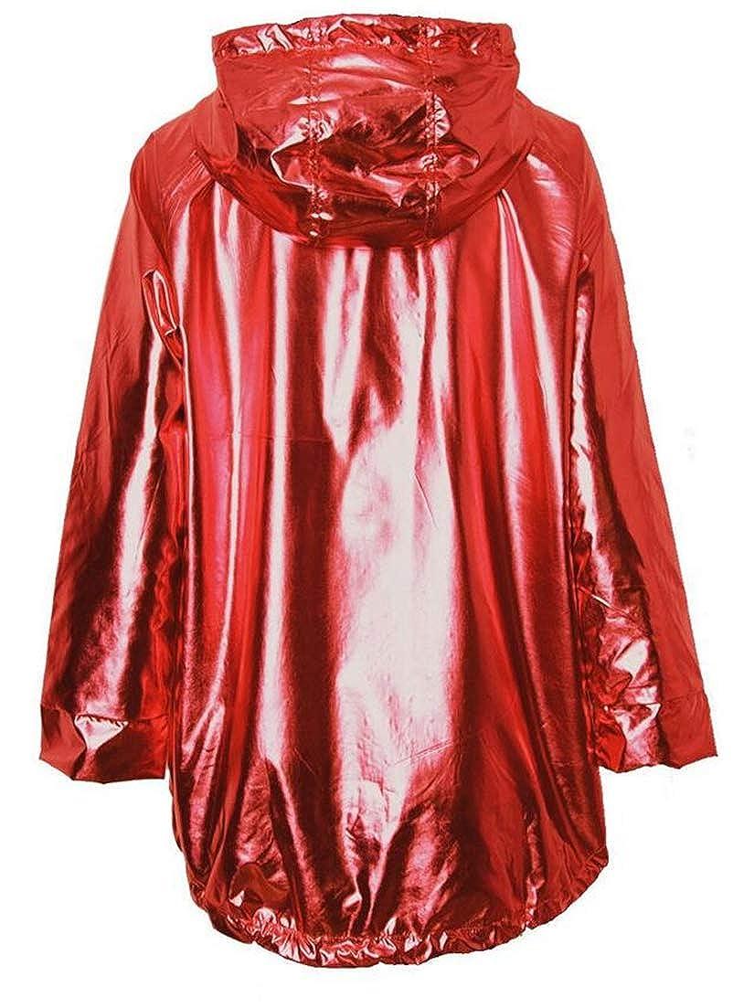 Cromoncent Women Hoodies Drawstring Mid Long Sweatshirt Zipper Watertight Trench Coat Oversize Jacket