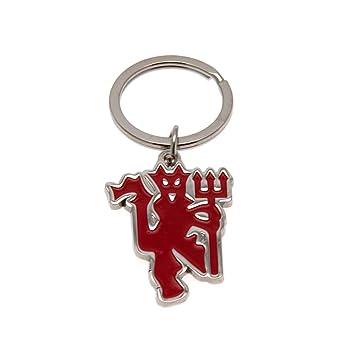 Llavero con diablo rojo del Manchester United F.C.: Amazon ...