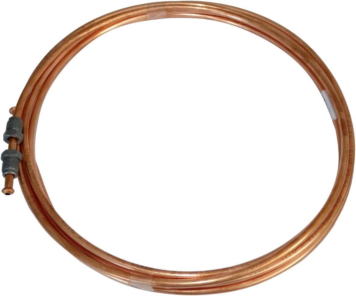 120cm Tubo per freno in rame /Ø4.76mm con raccordi M10x1//M10x1 AERZETIX
