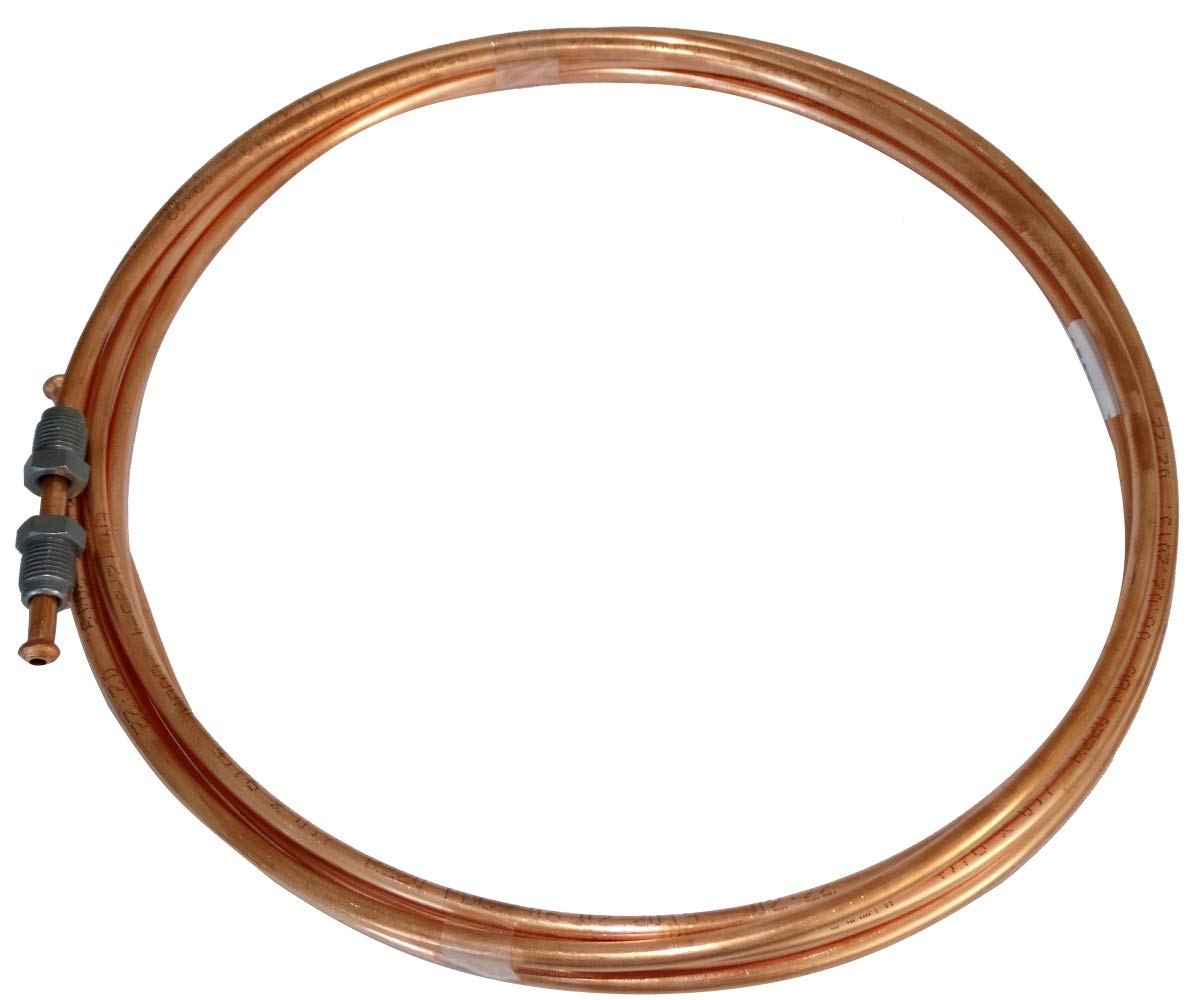 20cm Tubo per freno in rame /Ø4.76mm con raccordi M10x1//M10x1 AERZETIX