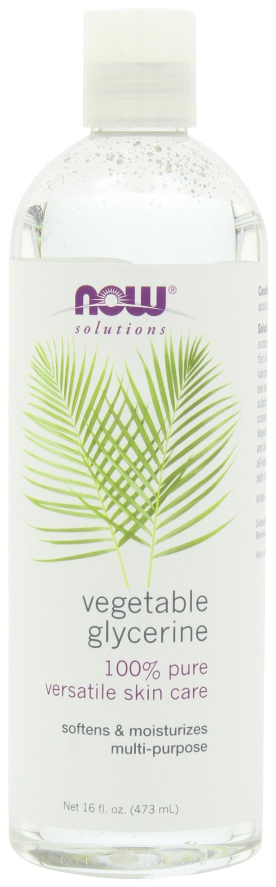 NOW Solutions Vegetable Glycerine (Liquid), 16-Ounce