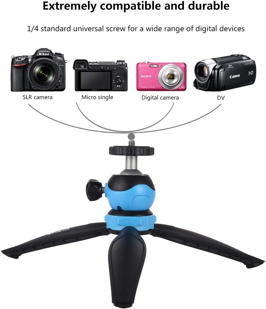 Black Chenyouwen Camera Accessories Wholesales 20cm Pocket Plastic Tripod Mount with 360 Degree Ball Head for Smartphones Cameras Color : Black