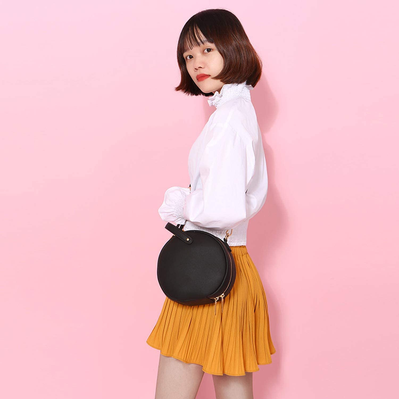 Circular Design Fashion Women Shoulder Bag Leather Womens Crossbody Messenger Bags