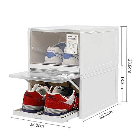 Caja de almacenamiento de zapatos apilable, caja de zapatos ...