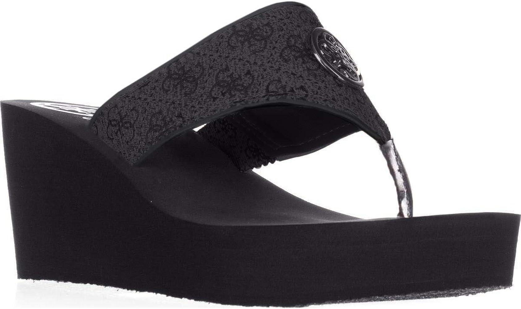 guess black sandals