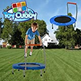 Toy-Cubby-Foldable-Junior-Trampolines-with-Safety-Handles-Silver