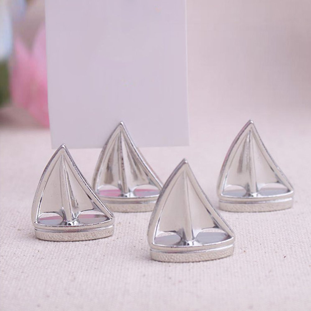 Bigmai Sail Boat Place Card Holder, Table Cardholder Tabletop Menu Holder Table Number Holder Recipe Holder Reserved Card Holder for Restaurants Weddings Banquets, 1 Pcs