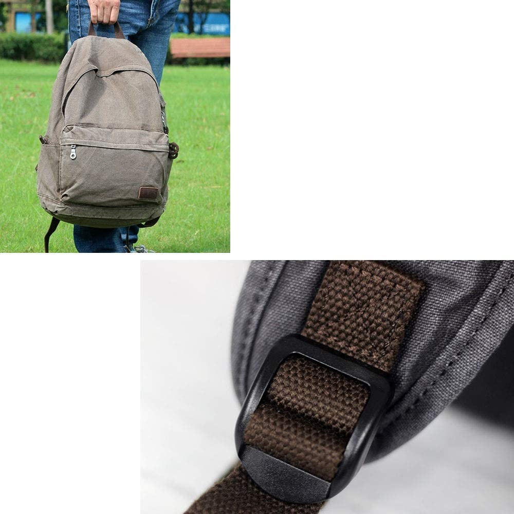 32x16x46cm YWJ Backpack Mens Casual Sports Lightweight Canvas Backpack Women Fashion Trendy Leisure Travel Bag