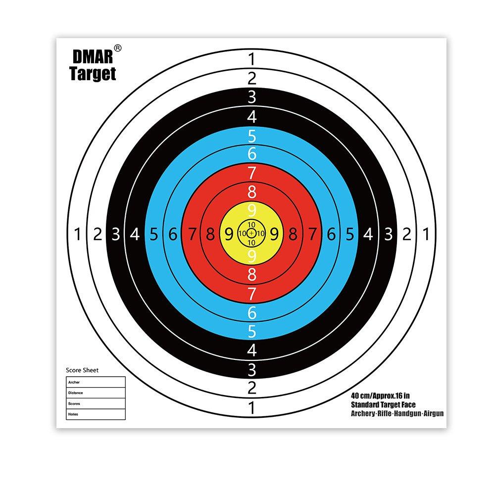 DMAR Dianas para tiro con arco 40 x 40 cm dianas de Tiro conjunto de blancos de tiro 20 piezas