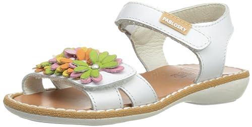a12d0a09c738 Pablosky Girls 406106 Sandals White 9 UK Child