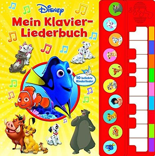 Mein Klavier-Liederbuch - Disney Liederbuch mit Klaviertastatur - Vor- und Nachspielfunktion - 10 beliebte Kinderlieder - Pappbilderbuch