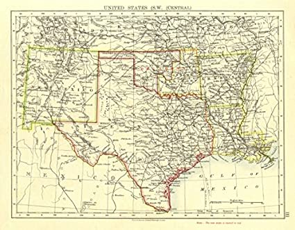 Map Of South Central Texas.Amazon Com Usa South Central Texas Proposed State Of Oklahoma Inc