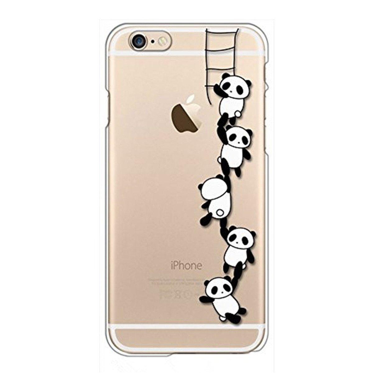 classic fit 1122b fe457 Case Compatible with iPhone 6s Plus Case, iPhone 6 Plus Case Panda Clear  Transparent TPU Cover iPhone 6 Plus