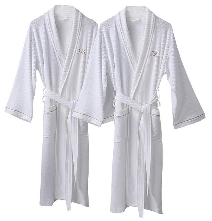 Unisex Pareja Batas Elegantes Moda Pijamas Mujer Ocasional ...