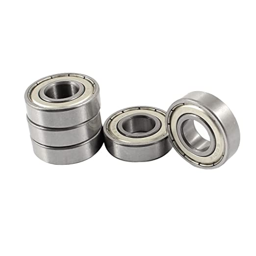 MACHSWON 12mm x 28mm x 8mm Rubber Sealed Deep Groove Ball Bearings Pack of 10