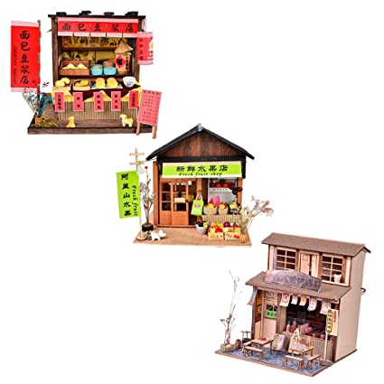 Baoblaze Diy Handicraft Miniature Project Wooden Dolls House Antique