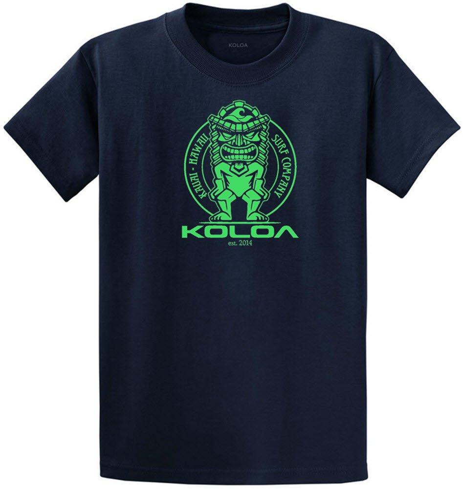 (コロア) Koloa サーフティキのロゴコットンTシャツ レギュラー ビッグ トールサイズ B074DCD8VF 3L|Navy Neon Green Logo Navy Neon Green Logo 3L