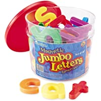 Learning Resources Jumbo Magnetic Lowercase Letters,Multi-color