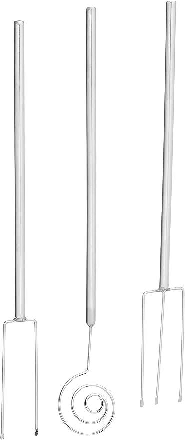 Metallic Fox Run 48770 3-Piece Chocolate Dipping Set 0.5 x 5 x 13 inches