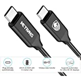 USB-C to USB-C Cable, Metrans Fast Charging C to C Cable 4K Thunderbolt 3 10Gbps, 20V 4.3A USB 3.1 Gen 2 for Galaxy Note 8 S8, S8+, Google Pixel, Nexus 6P Nintendo Switch, MacBook and More 3FT/1.2m