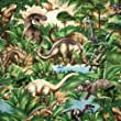 Timeless Treasures Jurassic Park Dinos Dinosaurs Green, 44-inch (112cm) Wide Cotton Fabric Yardage