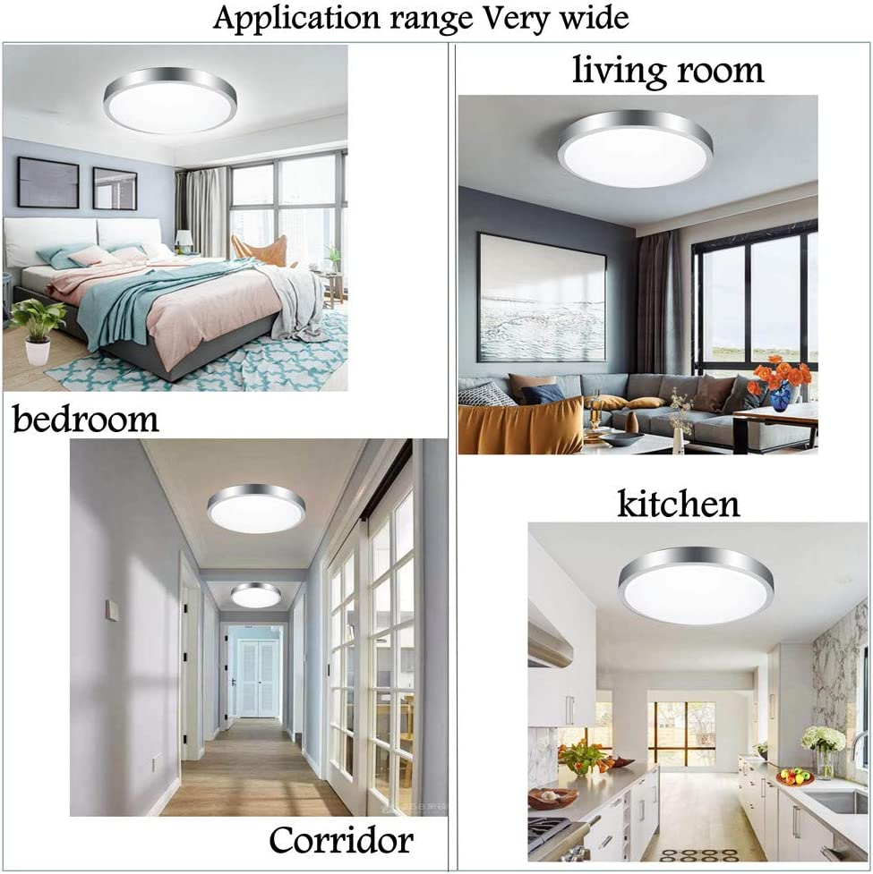 Bathroom Ceiling Lights Office Lighting Ceiling 24w Equivalent 150w Ip54 Waterproof 6500k Cool White For Bedroom Kitchen Livingroom Hallway Balcony O26cm Reduce Eyes Fatigue Energy Class A Bath Ceiling Lights Lighting