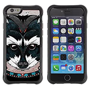 ZeTech Rugged Armor Protection Case Cover - Beautiful Animal Painting - Apple Iphone 6