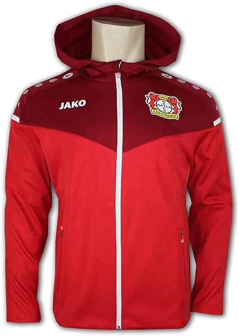 JAKO Bayer 04 Leverkusen Champ Jacke m.Kapuze schwarz B04 Kapuzenjacke Werkself