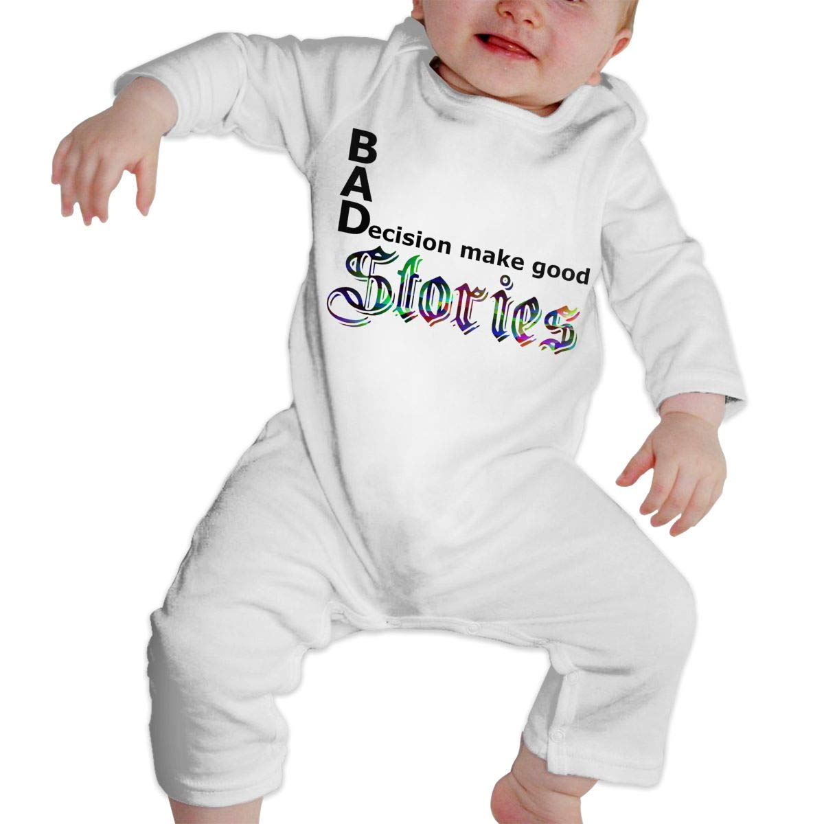 Fasenix Bad Decisions Make Good Stories Newborn Baby Boy Girl Romper Jumpsuit Long Sleeve Bodysuit Overalls Outfits Clothes
