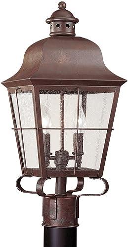 Kichler 9938RZ, Salisbury Cast Aluminum Outdoor Post Lighting, 150 Total Watts, Rubbed Bronze