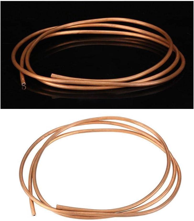 Broco 2m T2 souple Cuivre Coil Tube ID tuyau de 4 mm OD 6 mm d/épaisseur 1 mm for la r/éfrig/ération