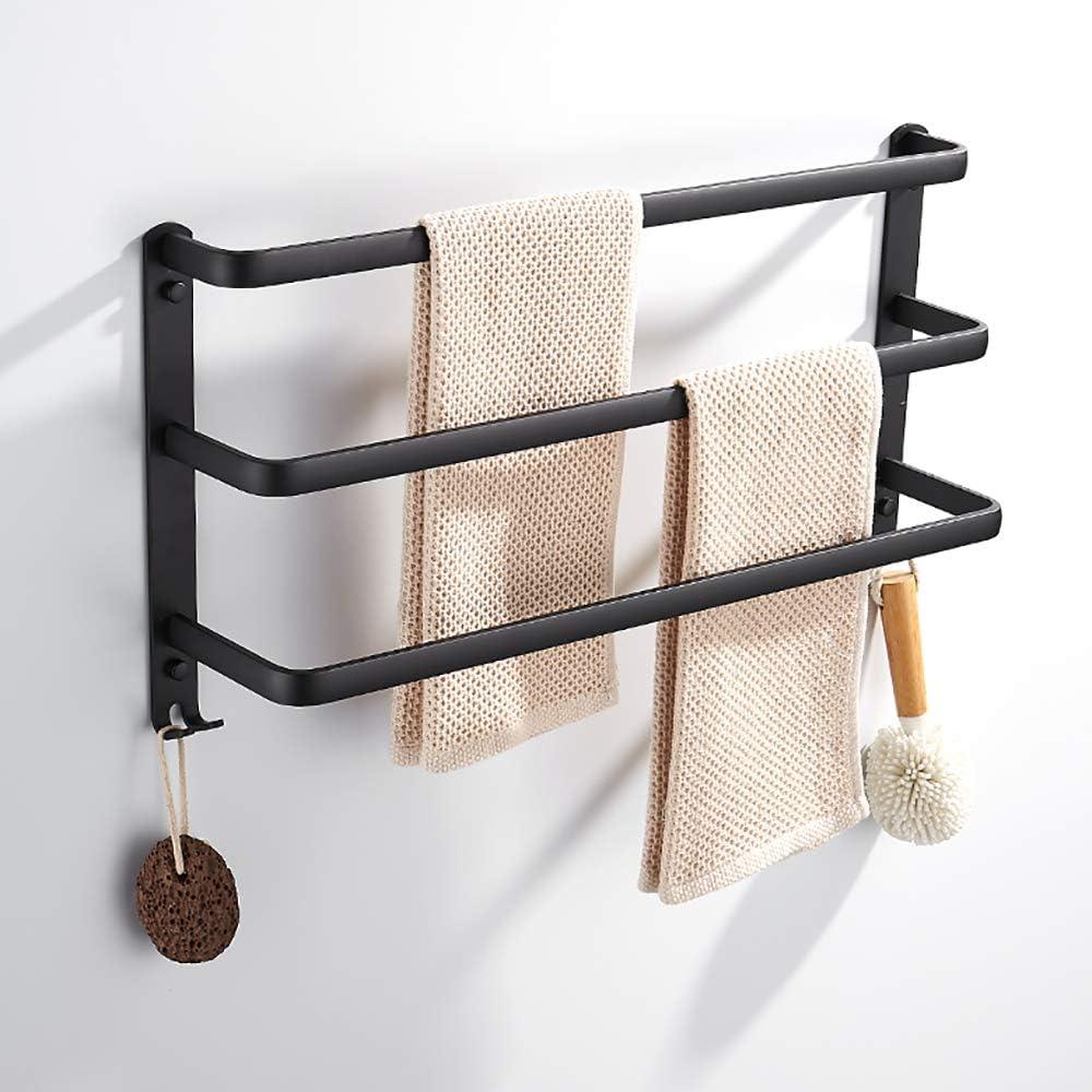 Towel Stands Wall mounted 3 Rails Towel Racks Aluminum Towel Holder Bathroom Accessory Towel Holder Rack