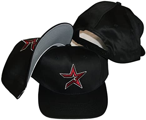 924b8b4a28f5d Image Unavailable. Image not available for. Color  Houston Astros Vintage  Retro Red Star Plastic Snapback Adjustable Snap Back Hat Cap