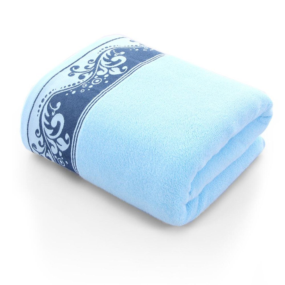 YIH Bath Towels For Bathroom Floral Blue 4 Pack, Luxury Premium long-stable Hotel & Spa Cotton Bath Sheets Eco-Friendly Quick Drying