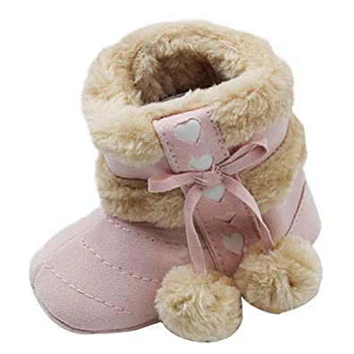 6daeb9378e09 Daytwork Toddler Winter Booties - Warm Lightweight Fur Snow Boots Baby Shoes  First Walking Fashion Cute