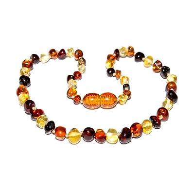 haut de gamme authentique fréquent convient aux hommes/femmes Collier ambre véritable Multicolore ( 29 cm ): Amazon.fr: Bijoux
