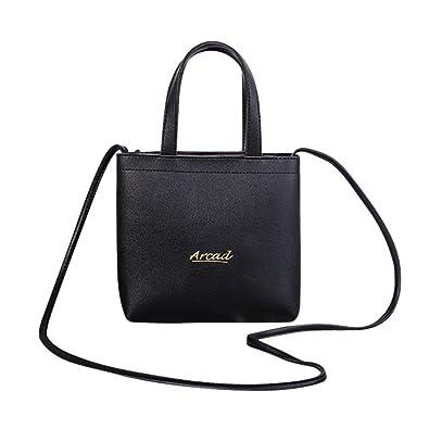 Mini pu handbag   Totes,BANAA elegant women messenger bag zipper shoulder  bag keys phones pouch purse coins holder crossbody bag for girls kids women  ladies ... d8d9c1e411