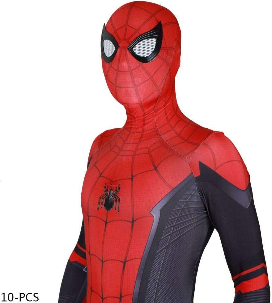 JUFENG New Adult Kids Spider-Man 2019 Costume di Halloween Tuta 3D Stampa Spandex Lycra Spiderman Costume Cosplay Tuta,A-Child//XS