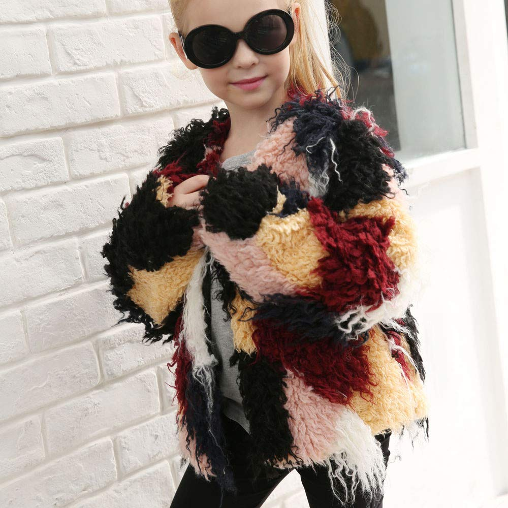 GorNorriss Baby Girl Coat Kids Autumn Winter Faux Fur Jacket Thick Warm Outwear Clothes