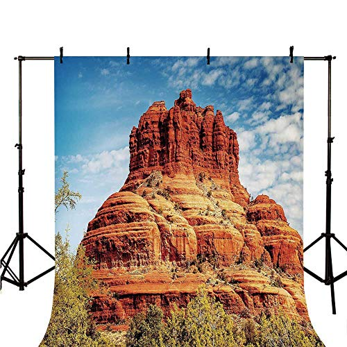 Western Stylish Backdrop,Famous Bell Rock and Courthouse Butte in Sedona Arizona USA Nature Desert Decorative for Photography,78.7