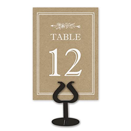 Printed Party Kraft Table Card Numbers For Wedding Reception   Double Sided    1 25
