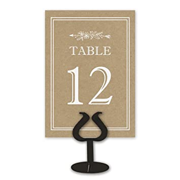 Amazon.com: Kraft Table Card Numbers for Wedding Reception ...