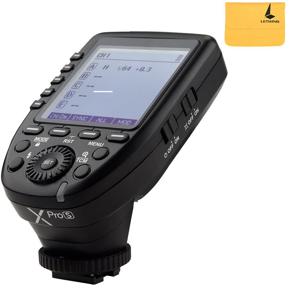Godox XPro-S 2.4G TTL Wireless Flash Trigger Wirless X System High-speed With Big LCD Screen Transmitter For Sony Camera by Godox