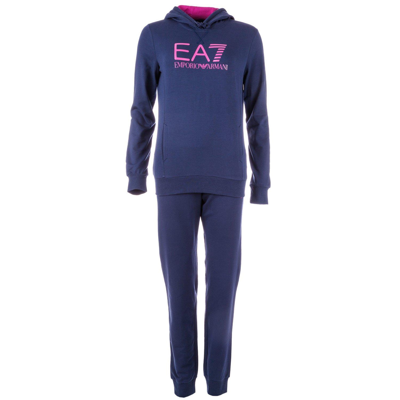 Emporio Armani Ea7 Women's Emporio Ea7 Logo Tracksuit Navy 14 Blue