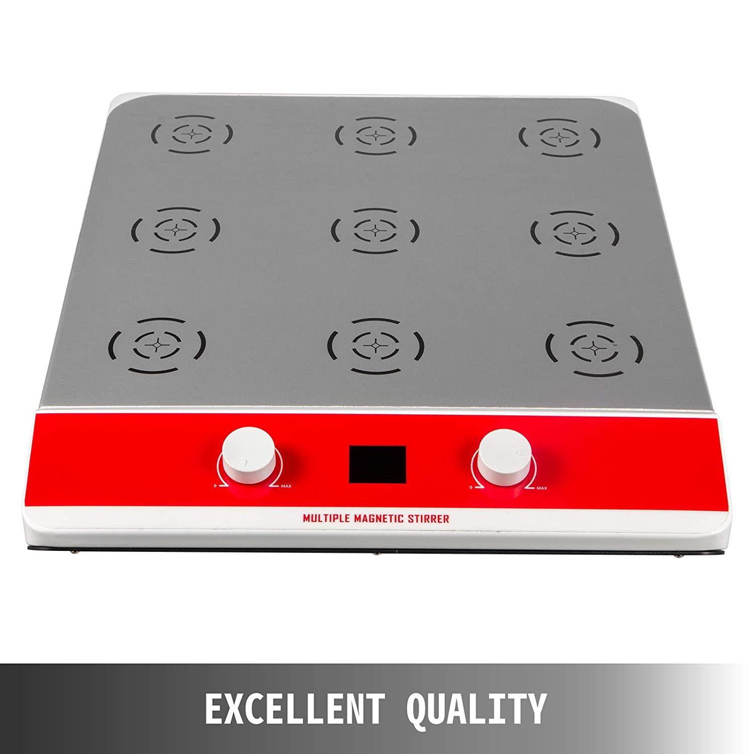 Lab(9 Stirring) Classrooms VEVOR Magnetic Stirrer Mixer 9 Stirring,Magnetic Lab Stirrer Plate 1000Ml,Laboratory Magnetic Stirrer LCD Display Magnetic Mixer Kit for Scientific Research Clinics